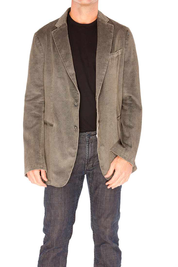 Armani Collezioni Grey Cotton Jacket Coat