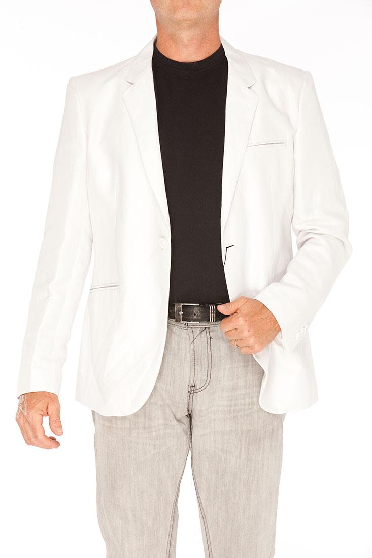 Emporio Armani WHITE Flax Jacket Coat