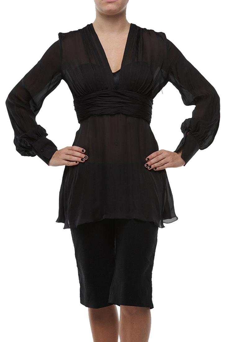 Roberto Cavalli Top Blouse Shirt Black Tunic