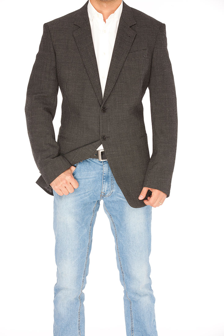 Armani Collezioni BLUE Polyester Jacket Coat