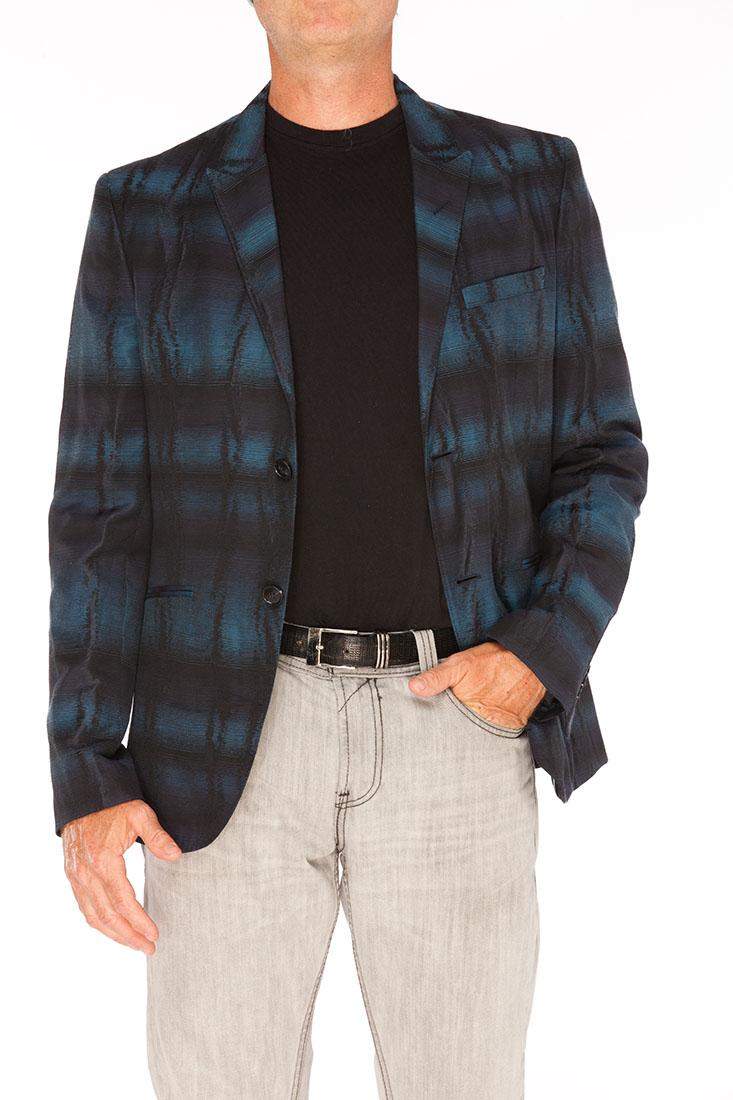 Emporio Armani BLUE Polyester Jacket Coat