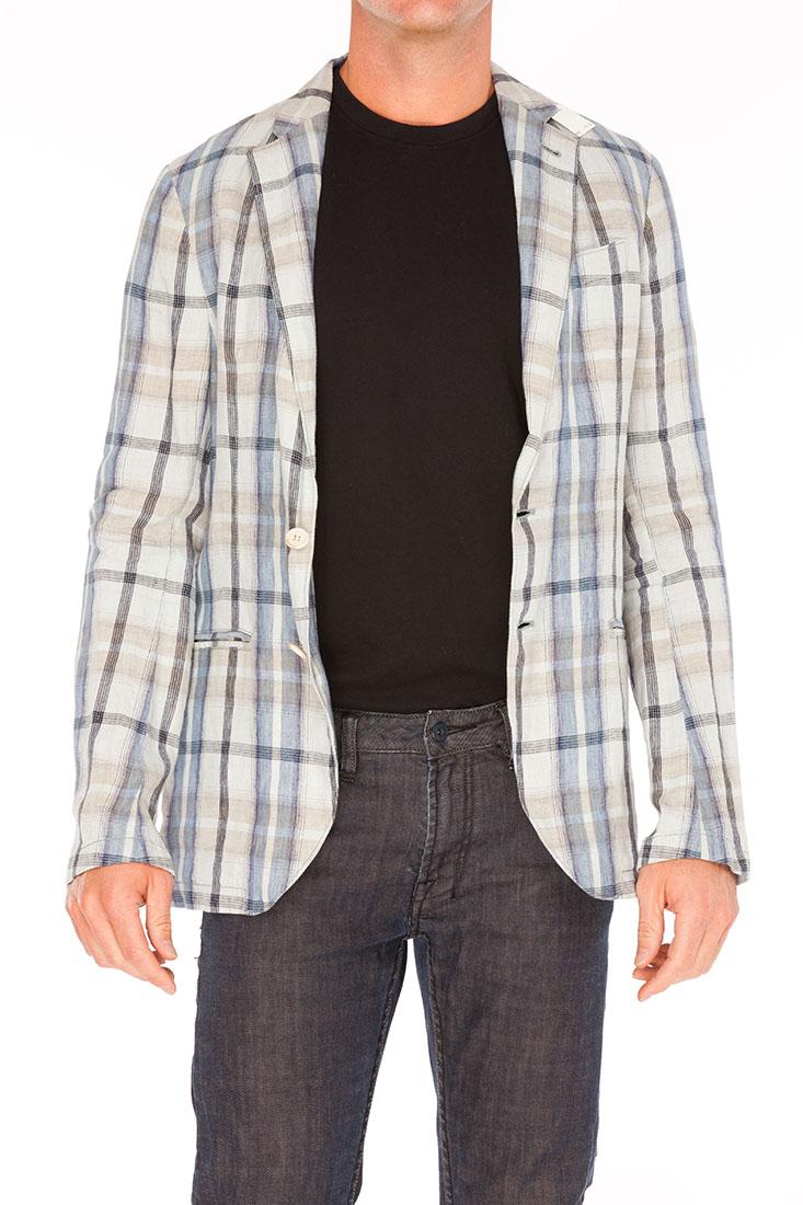 Armani Collezioni BLUE Linen Jacket Coat