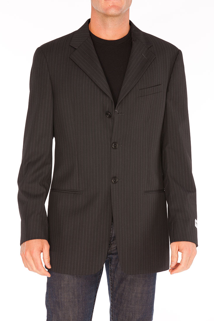 Armani Collezioni Grey Wool Jacket Coat