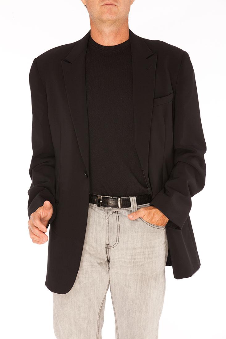 Giorgio Armani BLACK Polyester Jacket Coat