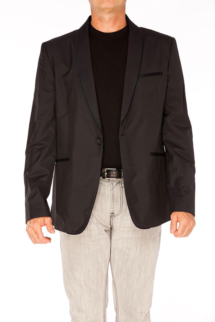 Emporio Armani BLACK Silk Jacket Coat