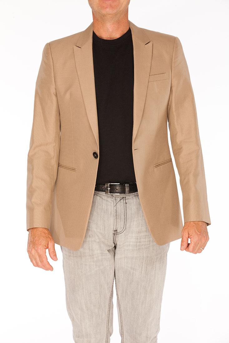 Emporio Armani Brown Cotton Jacket Coat