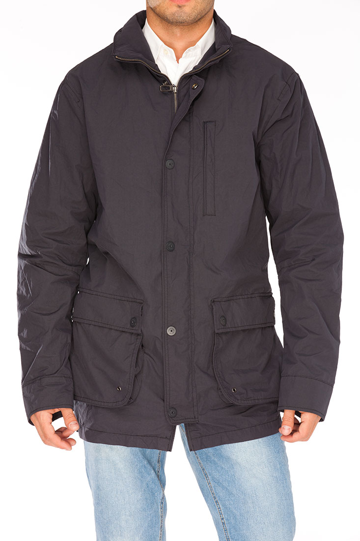 Armani Jeans BLUE Polyester Jacket Coat