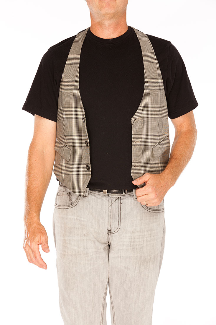 Emporio Armani Grey Virgin Wool Vest