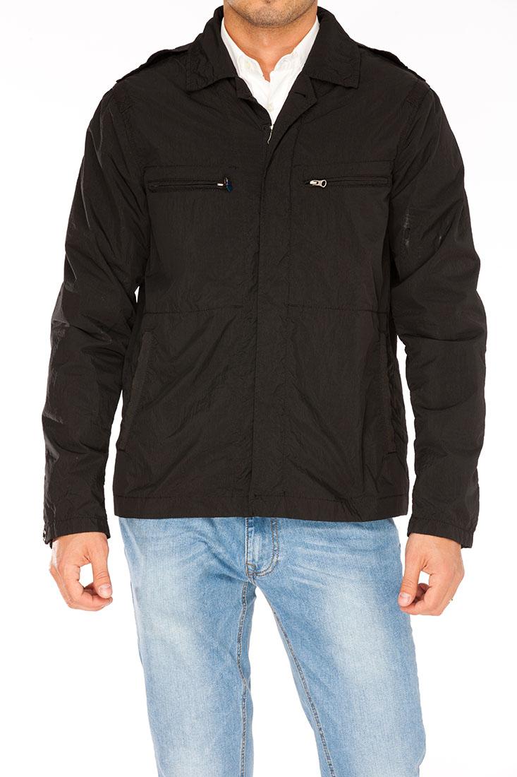 Armani Jeans Black Polyamid Jacket Coat