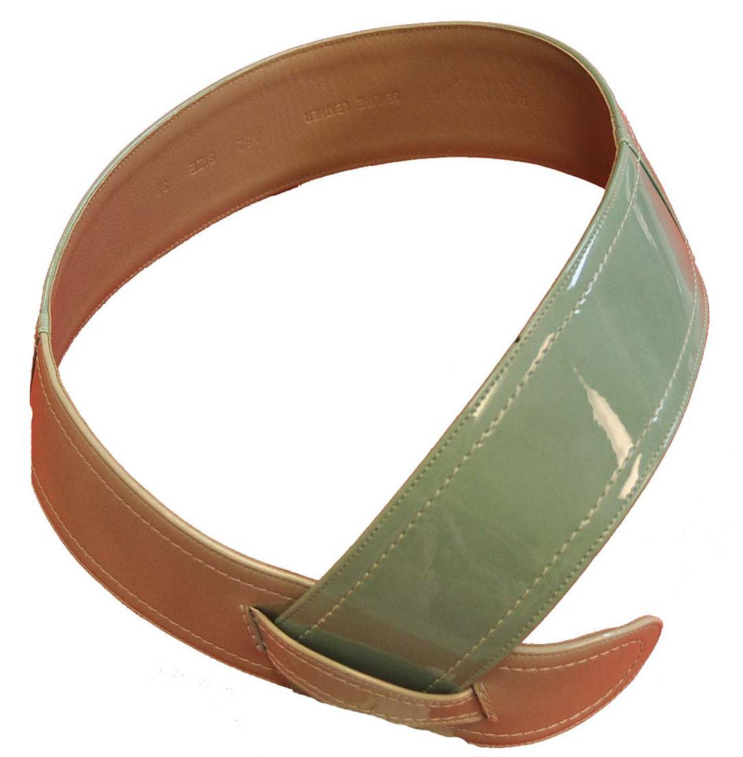 Emporio Armani GREEN Leather Belt