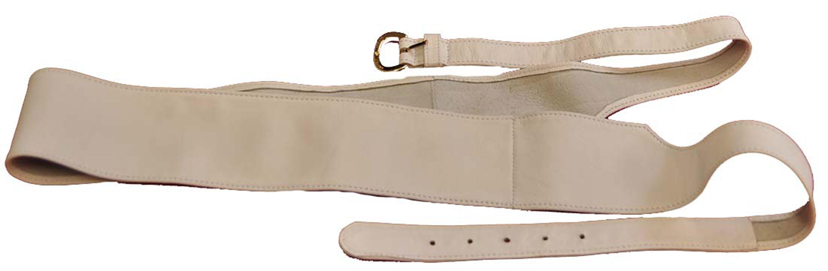 Emporio Armani WHITE Leather Belt