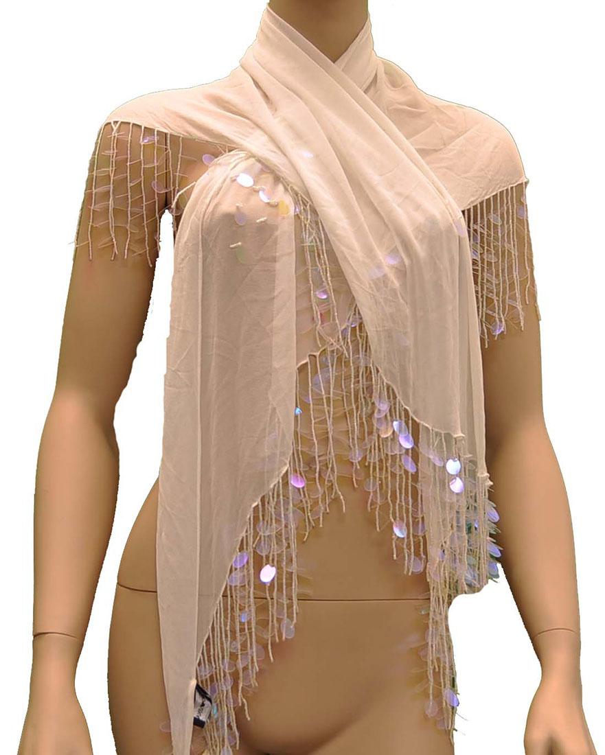 Emporio Armani BEIGE Silk Scarf, One Size