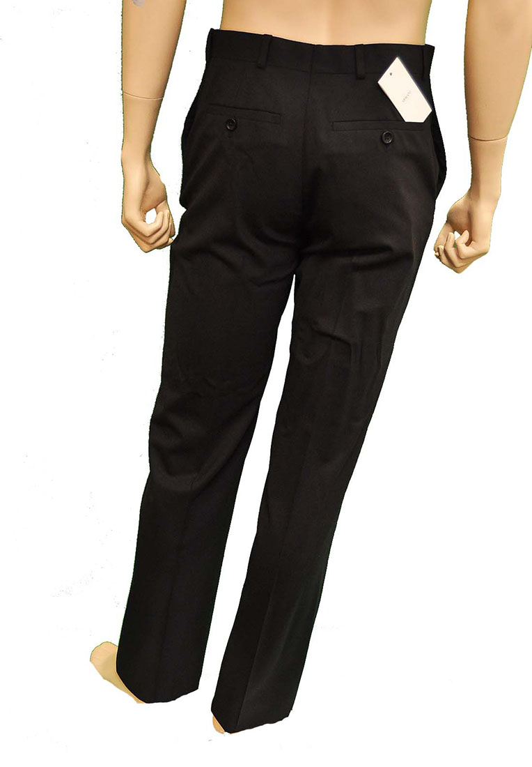 Armani Collezioni BLACK Wool Pants Trousers