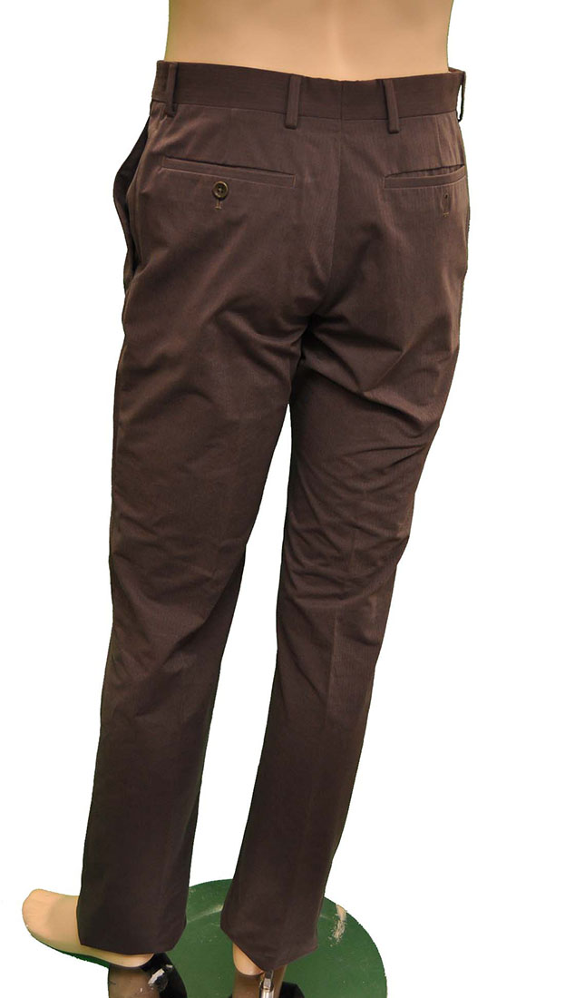 Armani Collezioni BROWN Cotton Pants Trousers