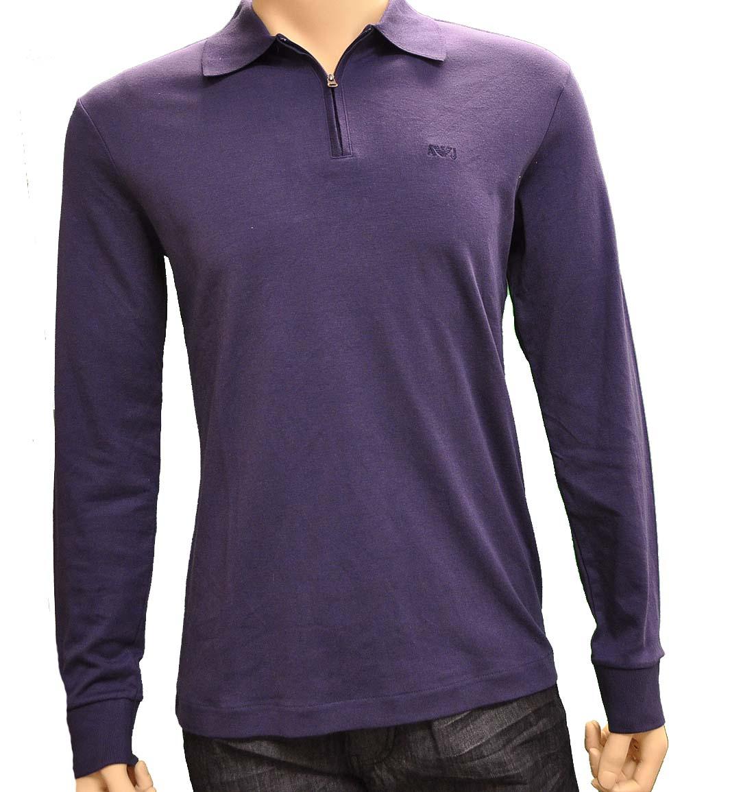 Armani Jeans Purple Cotton Shirt