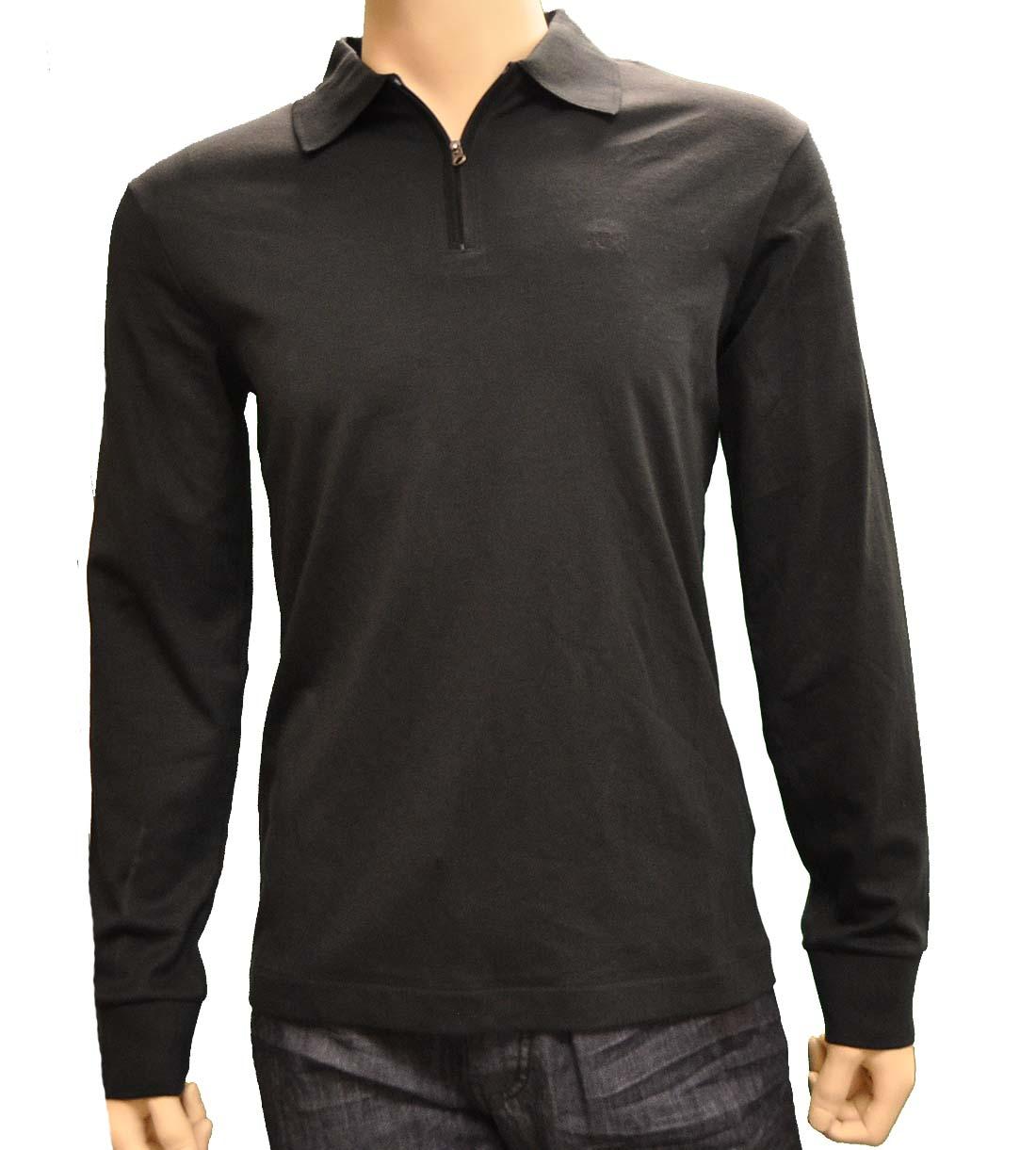 Armani Jeans Black Cotton Shirt