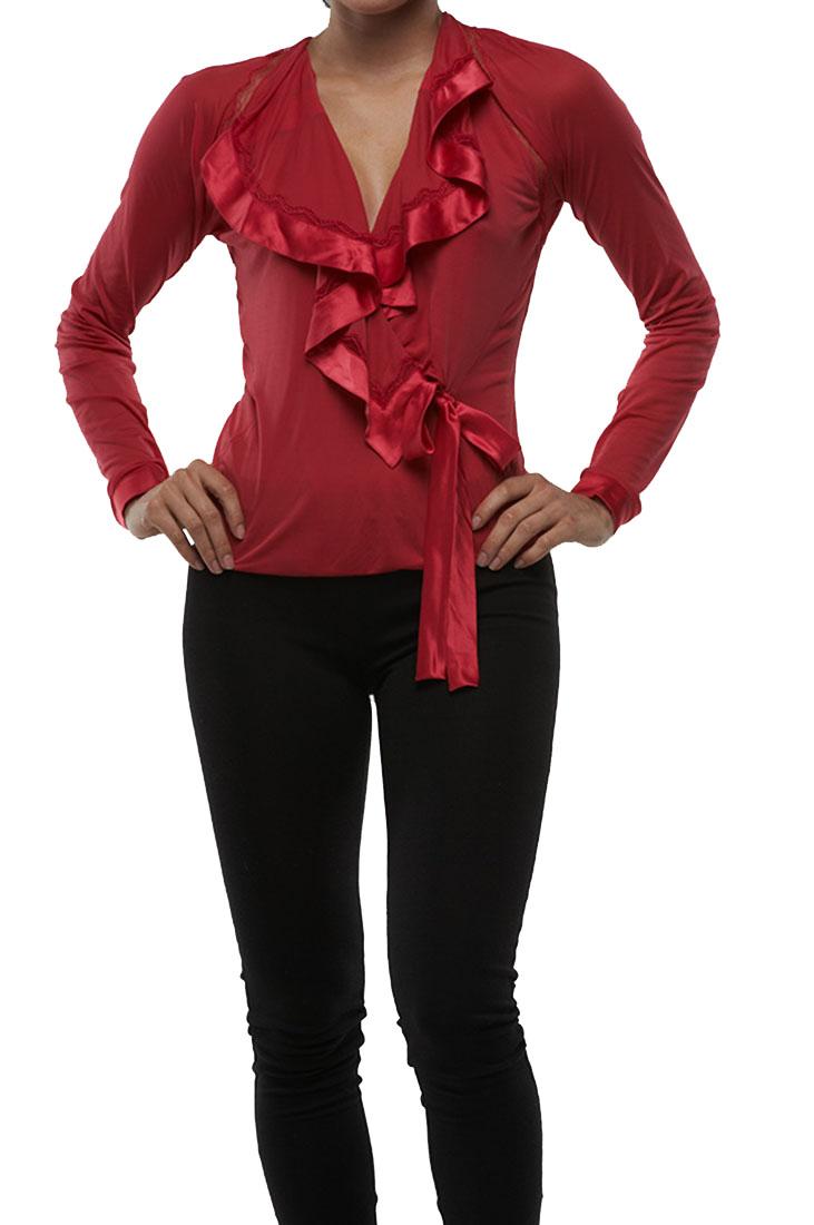 Roberto Cavalli SEXY Top Blouse Shirt Red