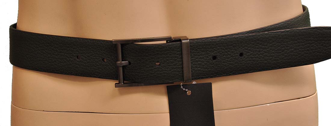 Giorgio Armani Green Leather Belt