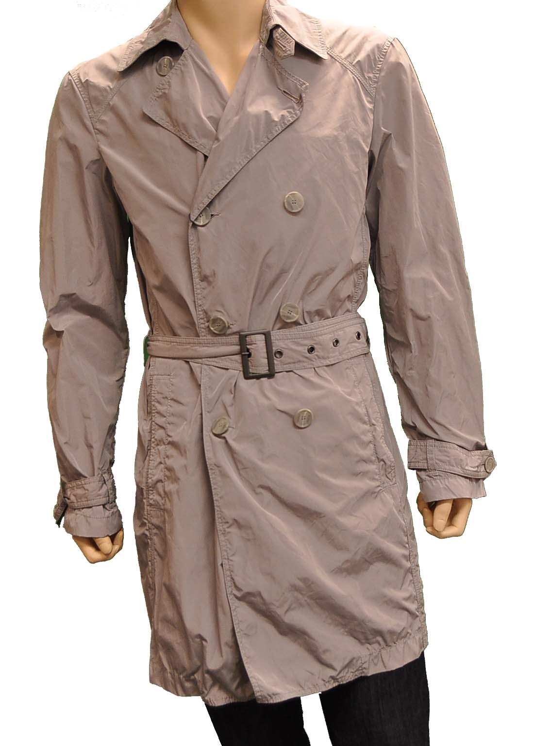 Armani Jeans GRAY Polyester Jacket Coat