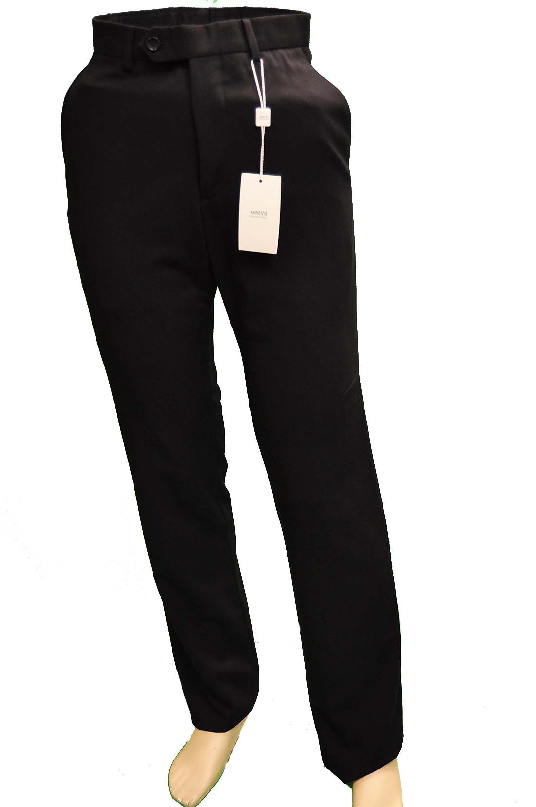 Armani Collezioni BLACK Polyester Pants Trousers