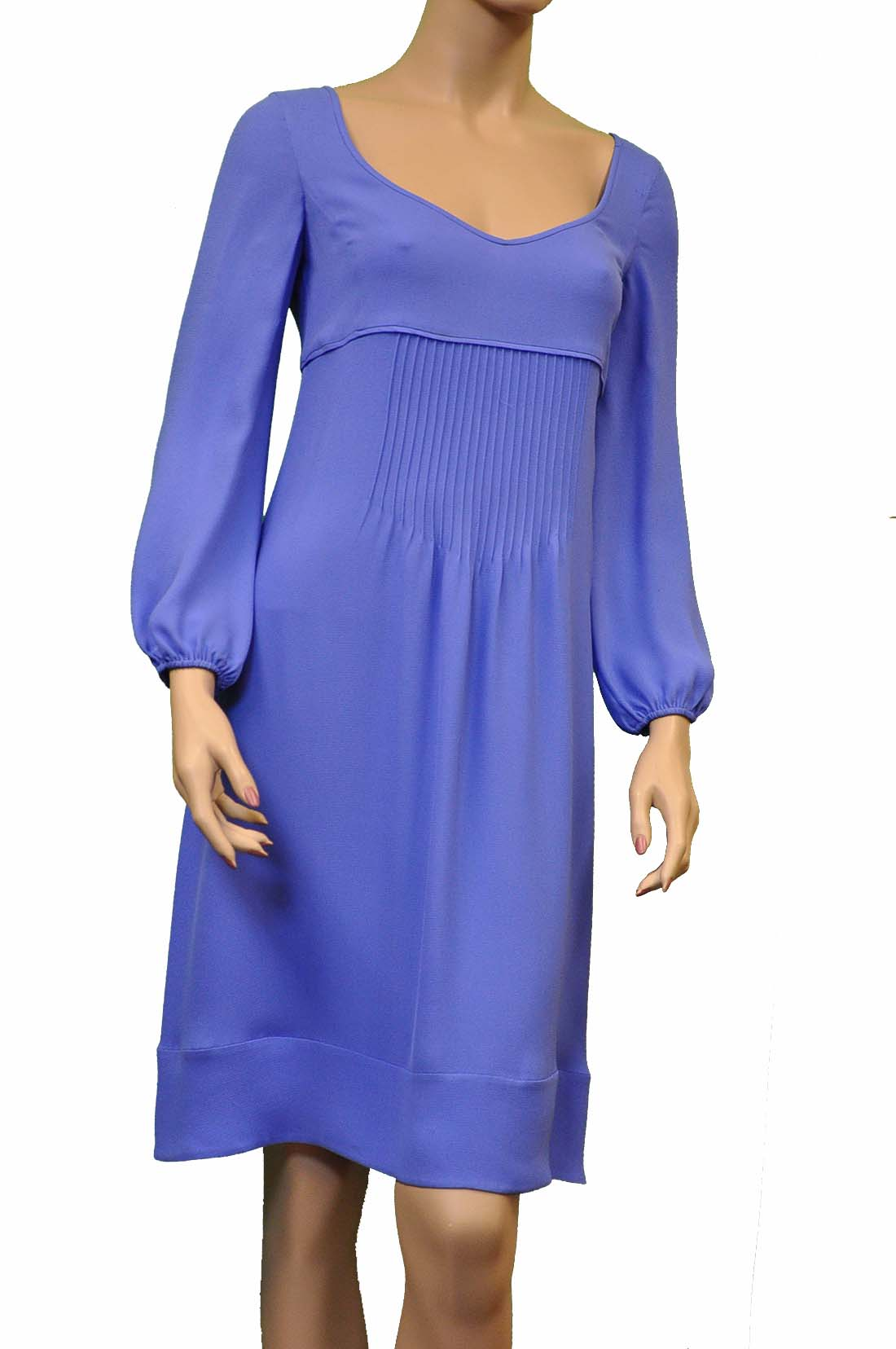 Armani Collezioni Blue Silk Long Dress