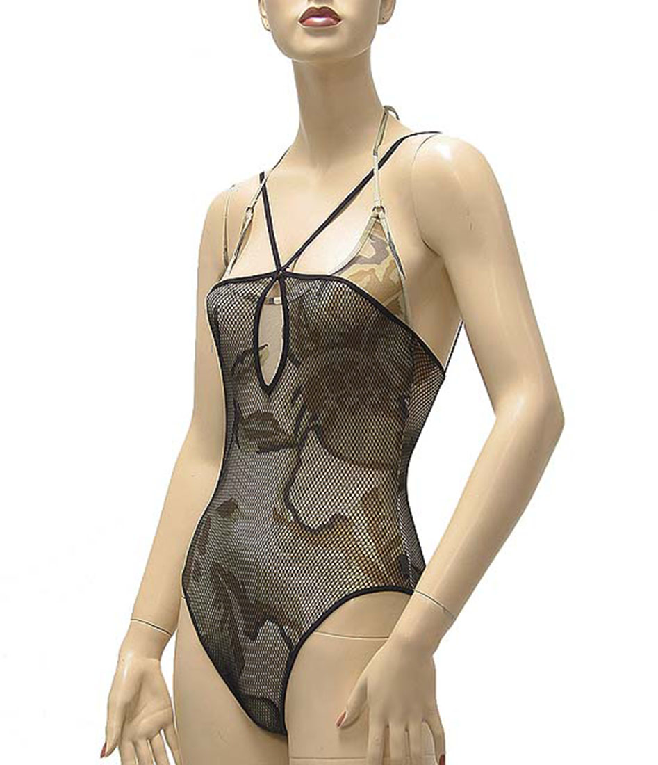 Ferre Womens Swimwear Bikini Swimsuit Black