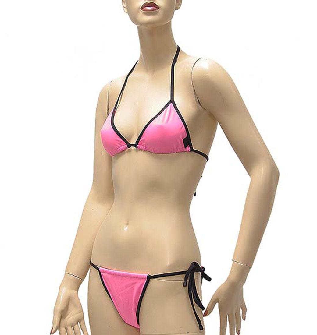 Ferre Womens Swimwear Bikini Swimsuit Pink