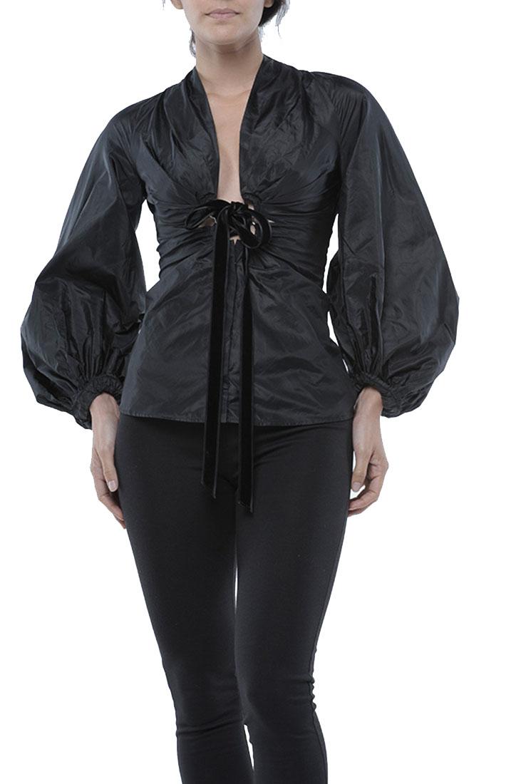 Roberto Cavalli Black Top Blouse Shirt Silk