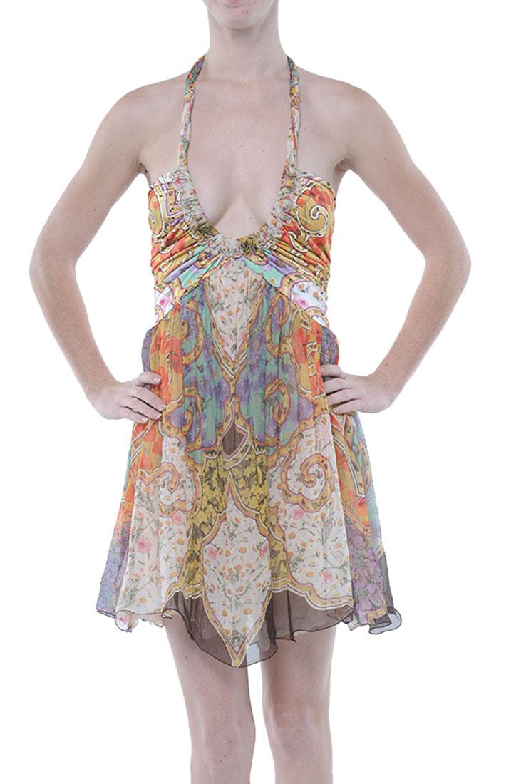 Roberto Cavalli Low Cut Dress