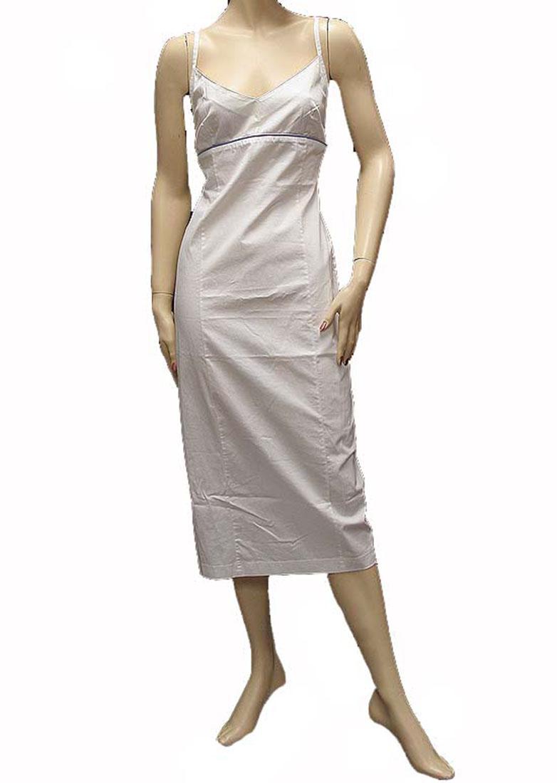 Ferre Womens Knee Length Dress White Cotton
