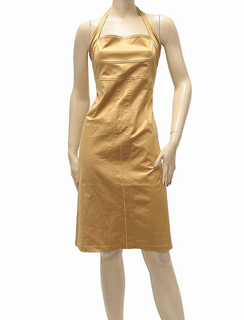 Ferre Womens Knee Length Dress Copper Cotton