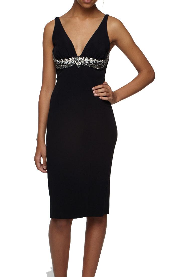 Roberto Cavalli Embellished Dress Black
