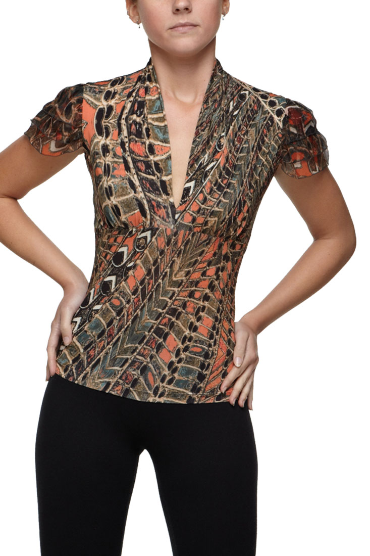 Roberto Cavalli Women's Top Blouse Shirt