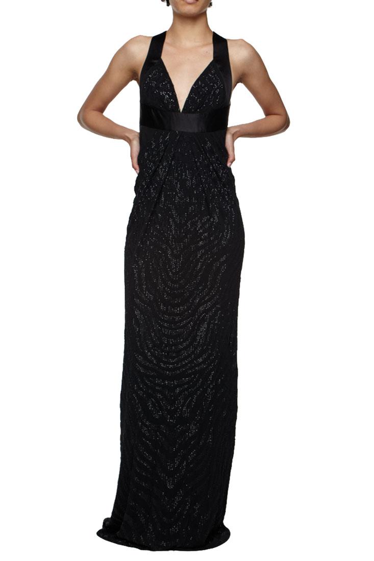 Roberto Cavalli Embellished Gown Black