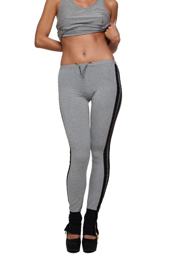 Roberto Cavalli Women's Tights Leggings Grey, 40, Multicolor