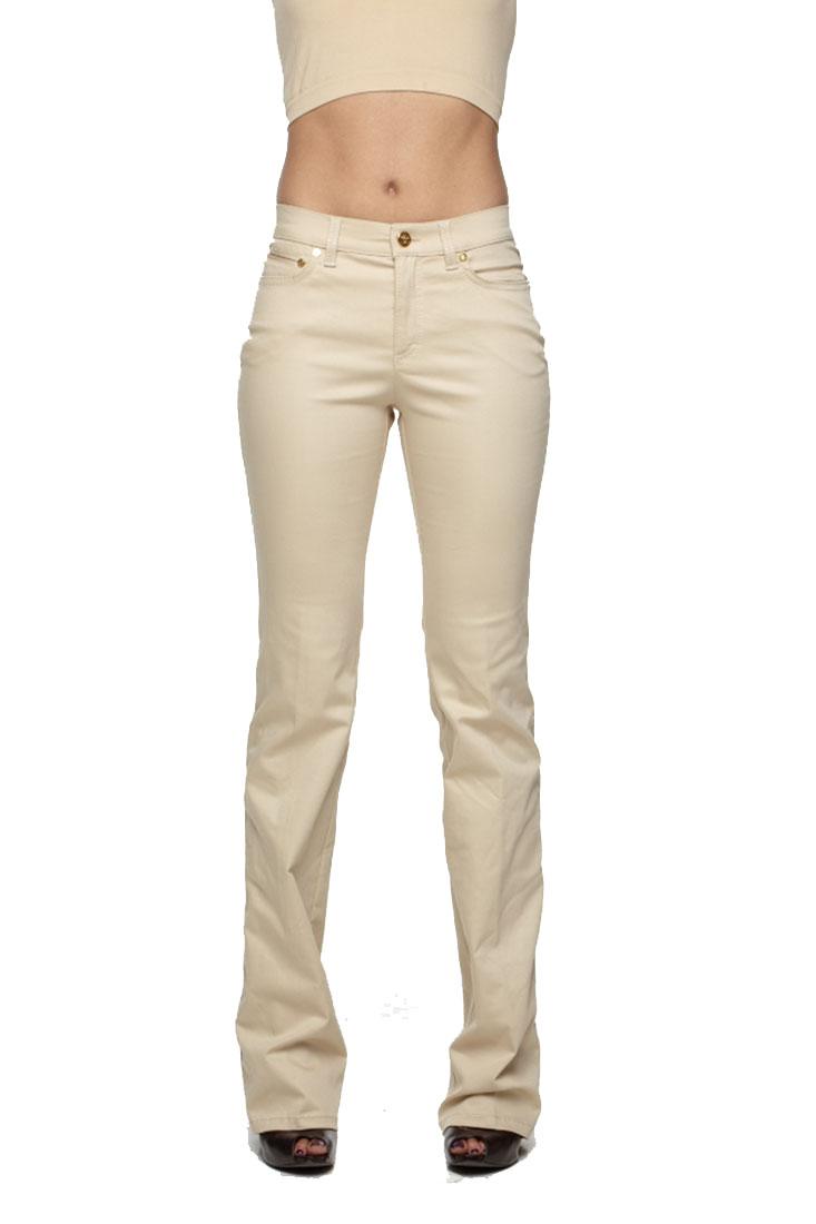 Roberto Cavalli Beige Leggings Women's Pants