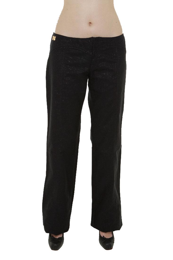 Just Cavalli Black Cotton Pants Trousers