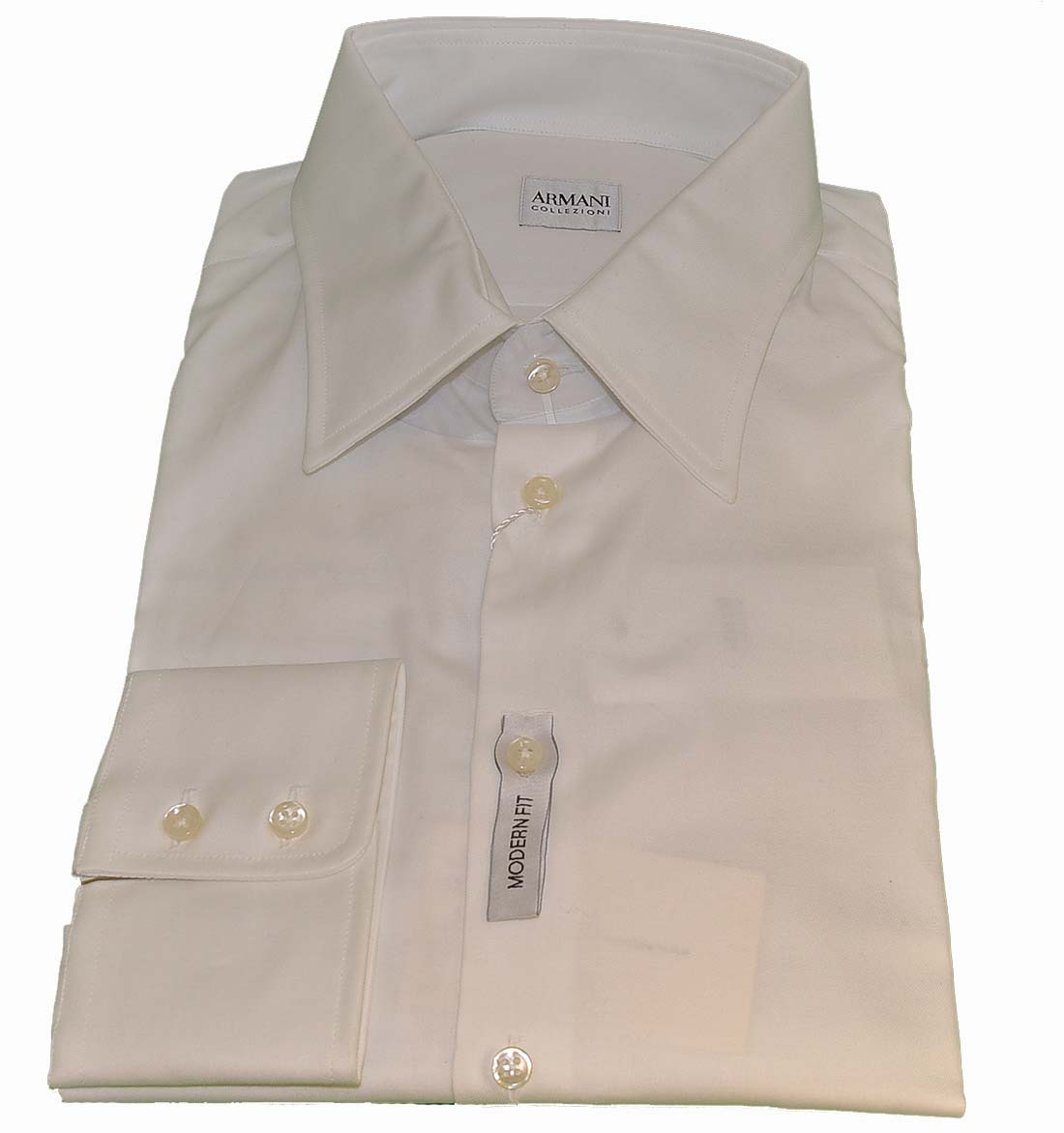Armani Collezioni white Cotton Dress Shirt
