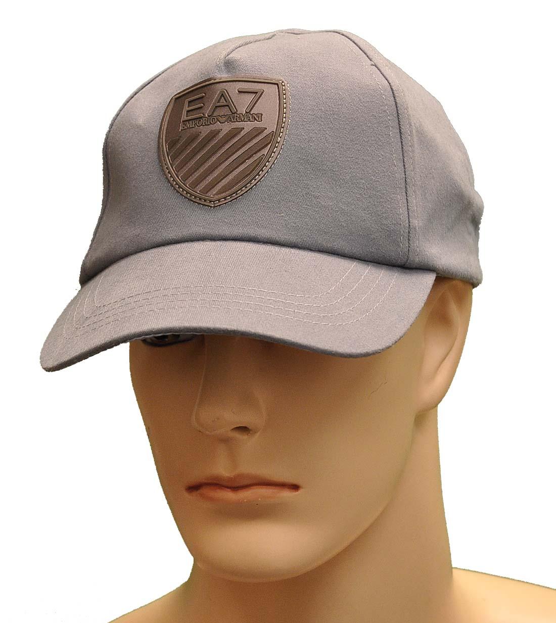 Emporio Armani Blue Cotton Hat