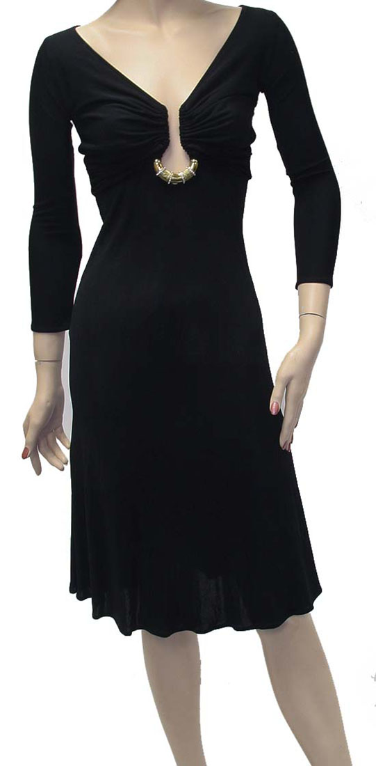 Roberto Cavalli Womens Knee Length Dress Black