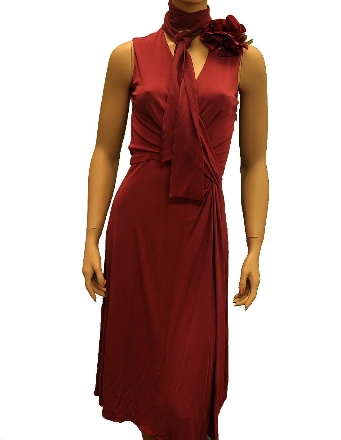 Gucci Red / Purple Viscose Knee Length Dress