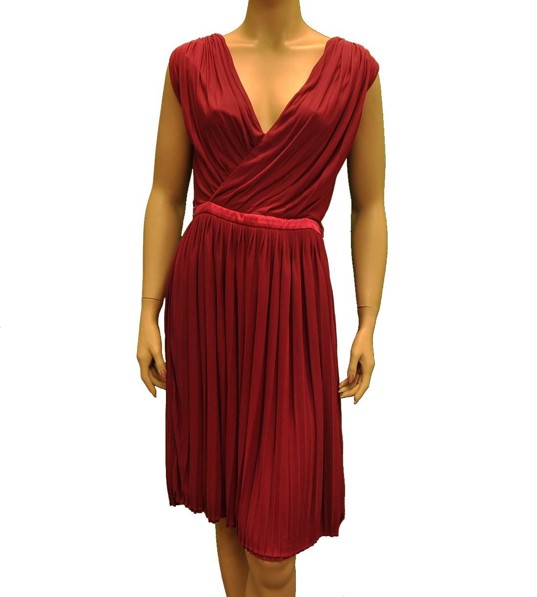 Gucci Red / Purple Acetate Knee Length Dress