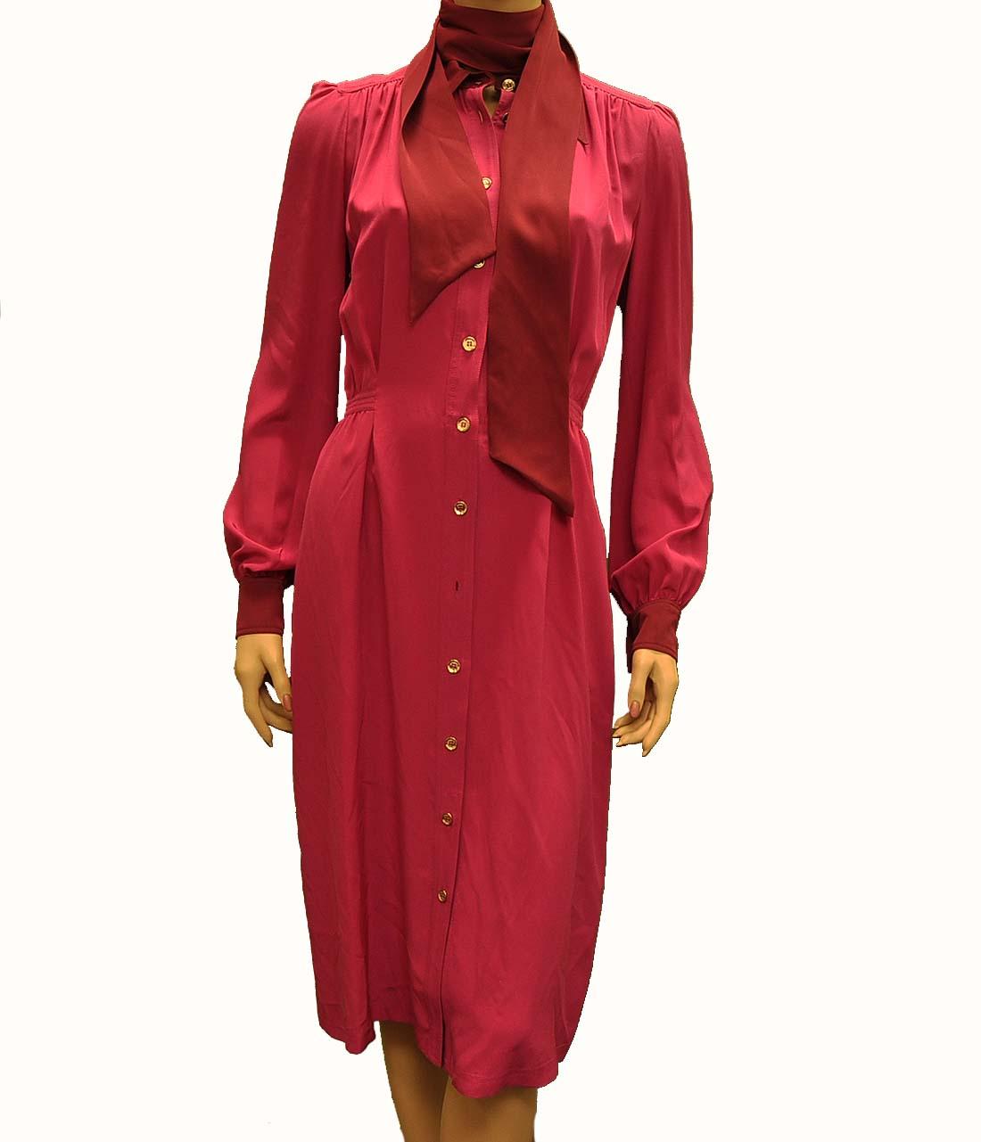 Gucci Pink Silk Knee Length Dress