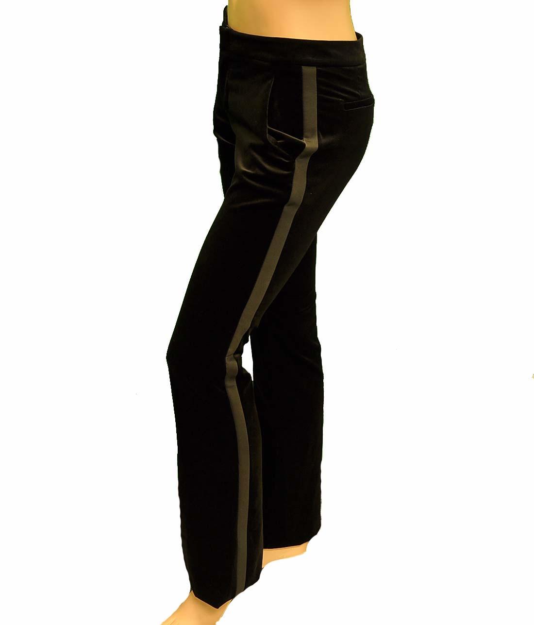 Gucci Black Cotton Pants Trousers