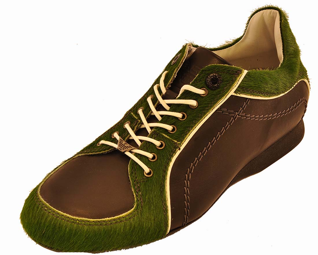 Emporio Armani Black/Green Shoe