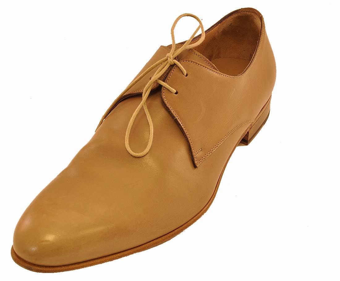 Giorgio Armani Beige Leather Shoe