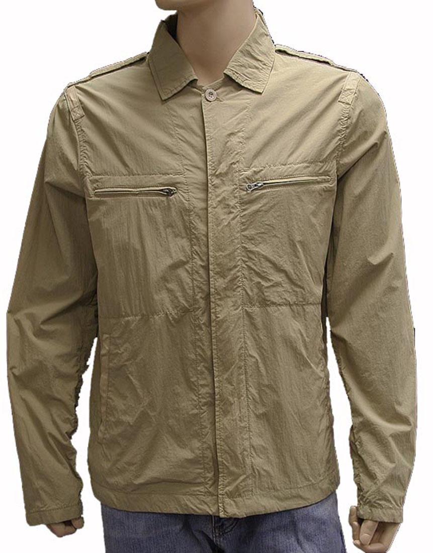 Armani Jeans Mens Jacket Coat Beige Cotton