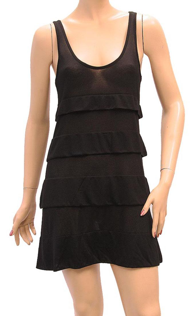 Armani Jeans Womens Knee Length Dress Black