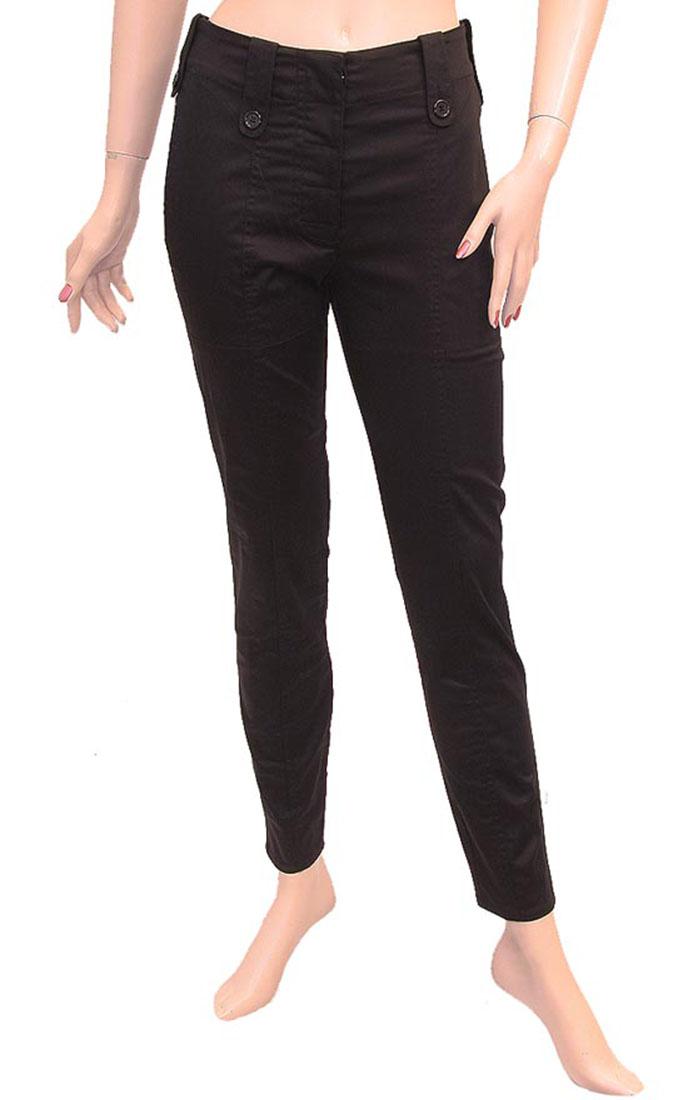 Armani Jeans Womens Pants Trousers Black Cotton