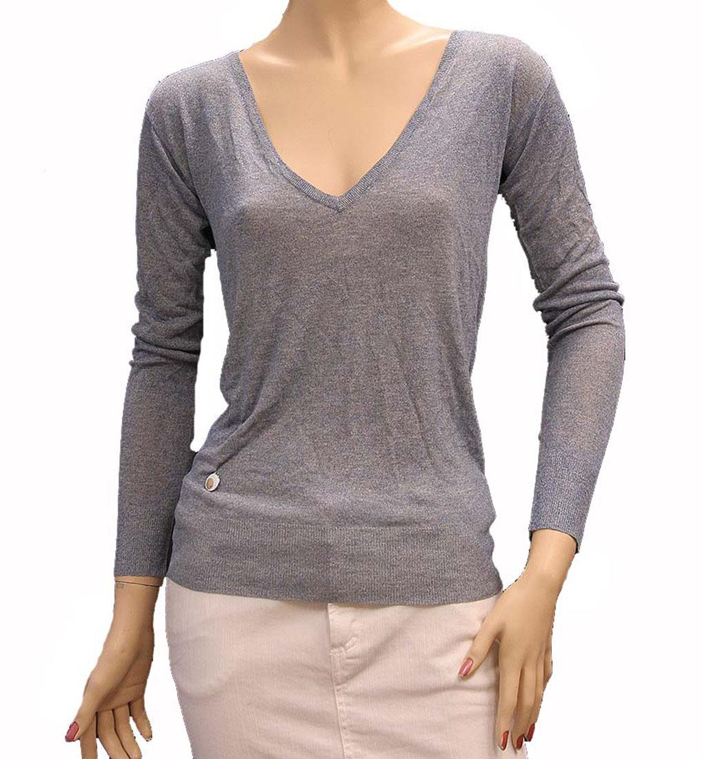Armani Jeans Womens Top Blouse Shirt Light Blue